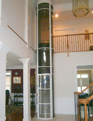 Vacuum elevator pve37 residential elevator nyc nj for Small elevators for homes