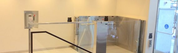 Custom glass wheelchair lifts installed recently by Mobility Elevator